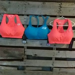 3-PACK OF SPORTS BRAS (SKECHERS)- MEDIUM-3/$21